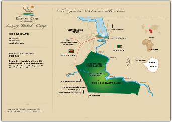 The Elephant Camp Map Victoria Falls