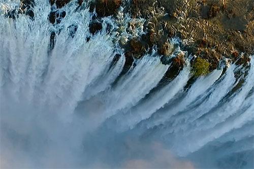 Victoria Falls Zimbabwe Aerial view