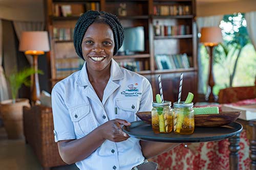 Elephant Camp Safari Lodge Waitress