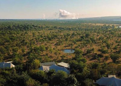 Aerial view of The Elephant Camp Lodge