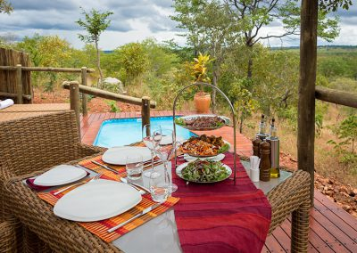 The ElephantCcamp dining on your private deck
