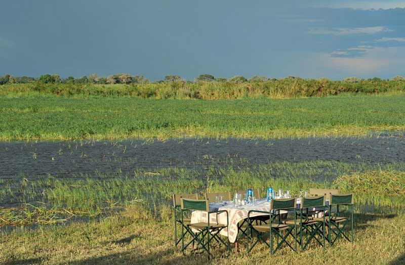 Bush Dinner on the Zambezi River