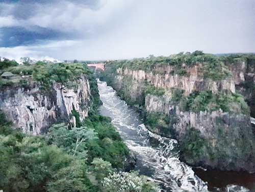 View of Victoria Falls and Bokota Gorge from The Lookout Cafe