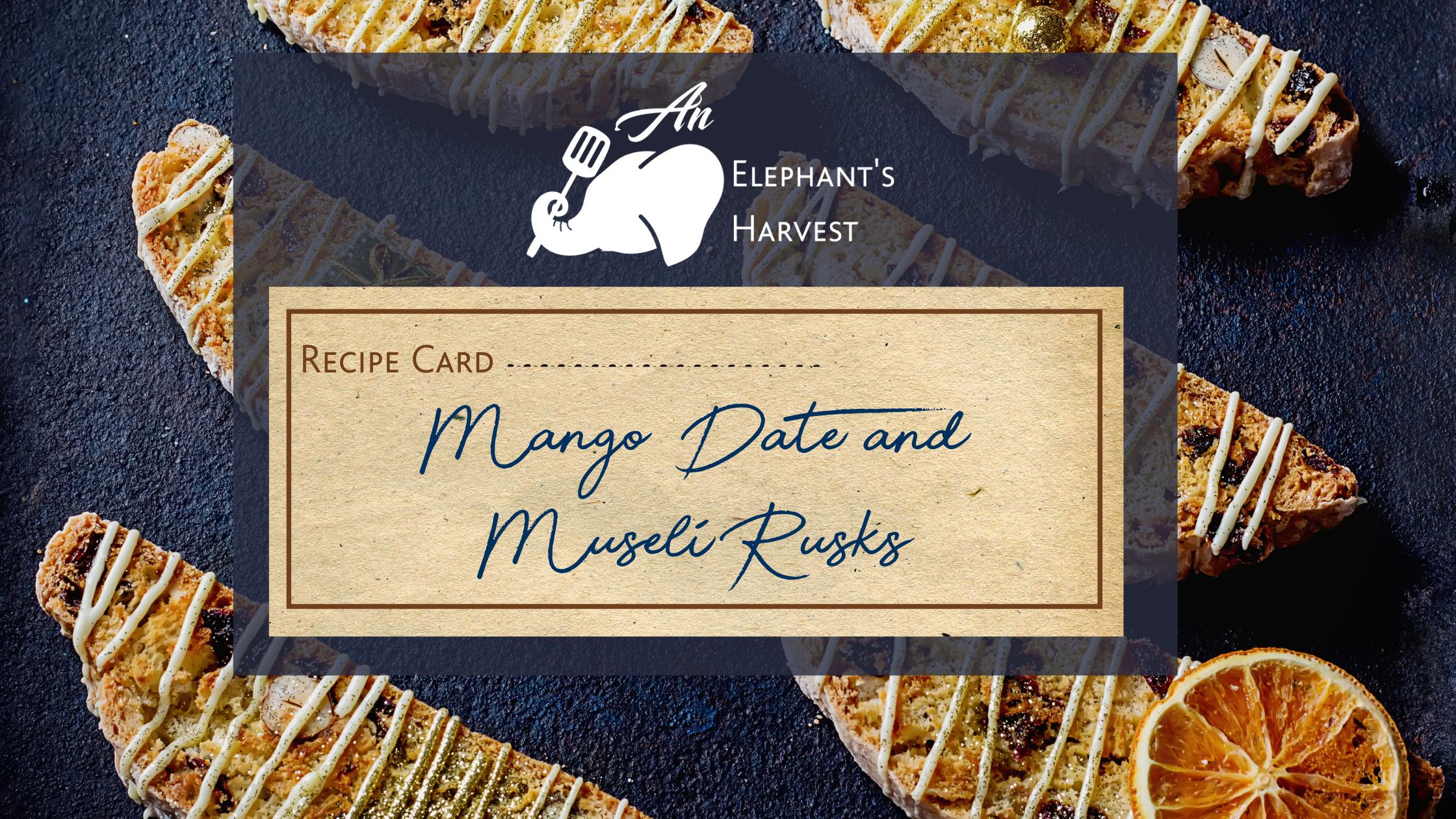 Mango Date Rusks
